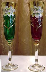 Декорированное богемское стекло. Костяной фарфор. - www.posuda.tk