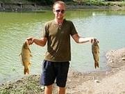 Рыбалка,  отдых на озере в горах Крыма.