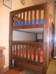 Двухъярусная деревянная кровать трансформер  Kopdag (лак)