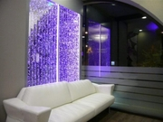 Водопады по стеклу. Пузырьковые колонны. Водно-пузырьковые панели.