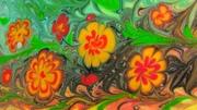 Водная анимация , Рисование красками в воде, Эбру