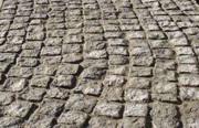 Мощение тротуарной плиткой ФЭМ,  гранитной брусчаткой
