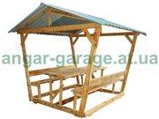 Беседки для дома деревянные и дачи