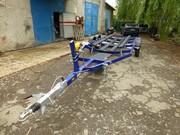 Продам прицеп легковой для лодки 2 оси, синий,  в Крыму