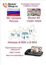 Многоканальные виртуальные телефонные номера в 1200 городах мира