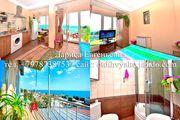 Сдам 2 к. квартиру над Массандровским пляжем в Ялте с видовым балконом