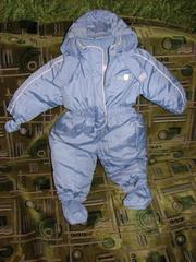 детский зимний пуховой комбинезон